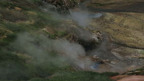 Eruption of the geyser Bolshoy in Valley of Geysers. Kamchatka Peninsula in the summer stock video footage
