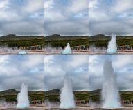 The eruption of the geyser Strokkur, Iceland. Royalty Free Stock Photos