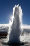 The eruption of Geysir Stock Photo