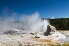Eruption of Grotto Geyser Stock Images