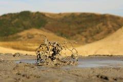 Eruption of mud volcanoes Royalty Free Stock Image