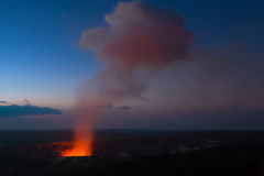 Eruption at night Royalty Free Stock Images