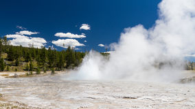 Eruption at Oblong Geyser Royalty Free Stock Photo