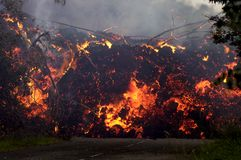Eruption on Reunion island 4 Royalty Free Stock Photo