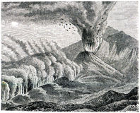 Eruption of side of the crater of Etna Royalty Free Stock Photos