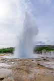 Eruption of the Strokkur geyser Royalty Free Stock Images