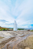 Eruption of the Strokkur geyser Stock Photography