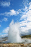 Eruption of Strokkur Geyser Royalty Free Stock Photography