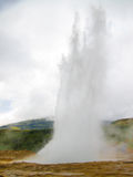 Eruption of Strokkur Geyser in Iceland Stock Photo