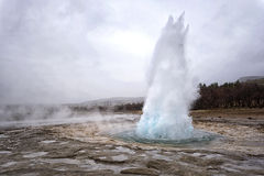 Eruption of Strokkur Geyser, Iceland Stock Image