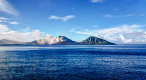 Eruption of Tavurvur volcano, Rabaul, New Britain island, PNG Royalty Free Stock Image