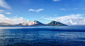 Eruption of Tavurvur volcano, Rabaul, New Britain island, PNG