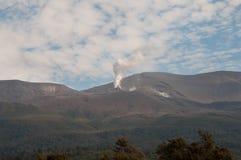 Eruption of Te Maari craters at Mount Tongariro. Tongariro crossing Royalty Free Stock Photo