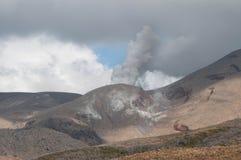 Eruption of Te Maari craters at Mount Tongariro. Tongariro crossing Royalty Free Stock Image