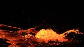 Eruption of Volcano Erta Ale stock video footage