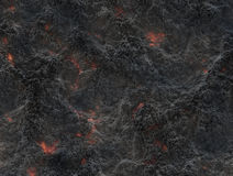 Eruption volcano. solidified lava texture Stock Images