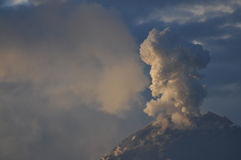 Eruption of a volcano Tungurahua Stock Images
