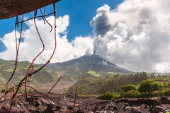 Eruption of a volcano Tungurahua in Ecuador Stock Photo