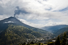 Eruption of a volcano Tungurahua in Ecuador Royalty Free Stock Images