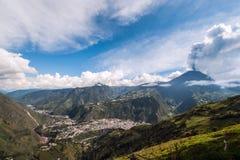 Eruption of a volcano Tungurahua in Ecuador Royalty Free Stock Photos