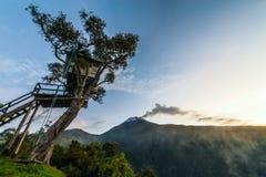 Eruption of a volcano Tungurahua, Ecuador Stock Photography