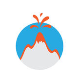 Eruption of a volcano, vector logo Stock Photography
