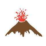 Eruption of a volcano, vector logo Royalty Free Stock Images
