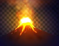 Eruption volcano vector Stock Photo