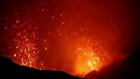 Eruption of Volcano Yasur, Vanuatu. Eruption of Volcano Yasur, Tanna, Vanuatu stock video footage