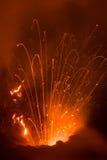 Eruption of Volcano Yasur, Vanuatu Stock Images