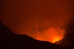 Eruption of Volcano Yasur, Vanuatu Royalty Free Stock Images