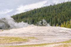 Eruption at Yellow Stone National Park royalty free stock images