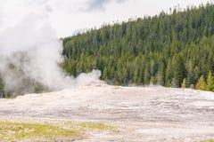 Eruption at Yellow Stone National Park royalty free stock photos