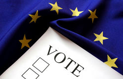 Eruro голосования стоковое фото