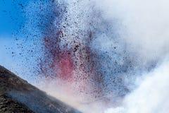 Eruzione del 12 aprile 2012 Fotografie Stock Libere da Diritti