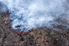 Eruzione del 12 aprile 2012 Fotografia Stock Libera da Diritti