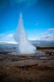 Eruzione del Geysir Fotografia Stock