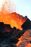Eruzione del vulcano fotografia stock libera da diritti