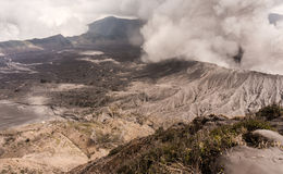 Eruzione del vulcano di Bromo Fotografia Stock Libera da Diritti