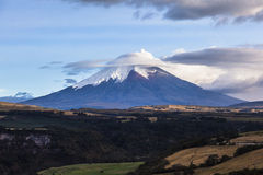 Eruzione del vulcano di Cotopaxi Immagini Stock Libere da Diritti