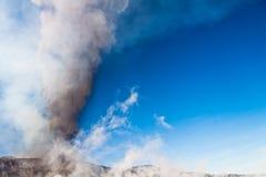 Eruzione dell'Etna Immagine Stock