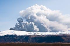 Eruzione di Eyjafjallajokull Fotografia Stock Libera da Diritti