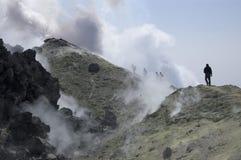 Eruzione, Kamchatka Immagine Stock