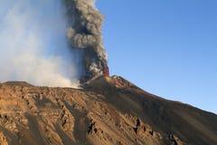 Eruzione panoramica Fotografie Stock Libere da Diritti