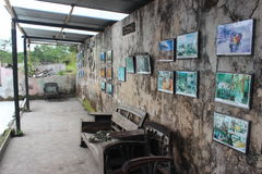 Eruzione Volcano Museum Immagine Stock Libera da Diritti