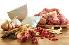 Erva com carne de porco imagens de stock royalty free
