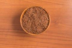 Erva de seda do milho seco em uma bacia Estigmas Maydis Fotos de Stock Royalty Free