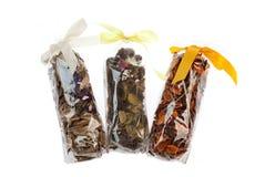 Ervas dos sacos de plástico Fotografia de Stock Royalty Free