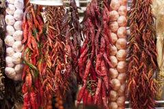 Ervas e especiarias espanholas do mercado Foto de Stock Royalty Free