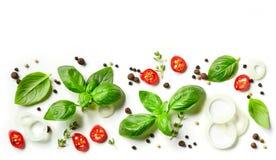 Ervas e especiarias frescas Foto de Stock Royalty Free